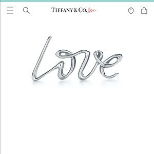 Tiffany and co Paloma Picasso single love earring